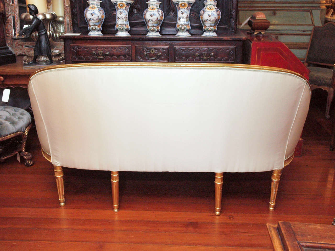 Danish Furniture St Louis Danish Louis Xvi Gilt Wood Canape For Sale At 1stdibs