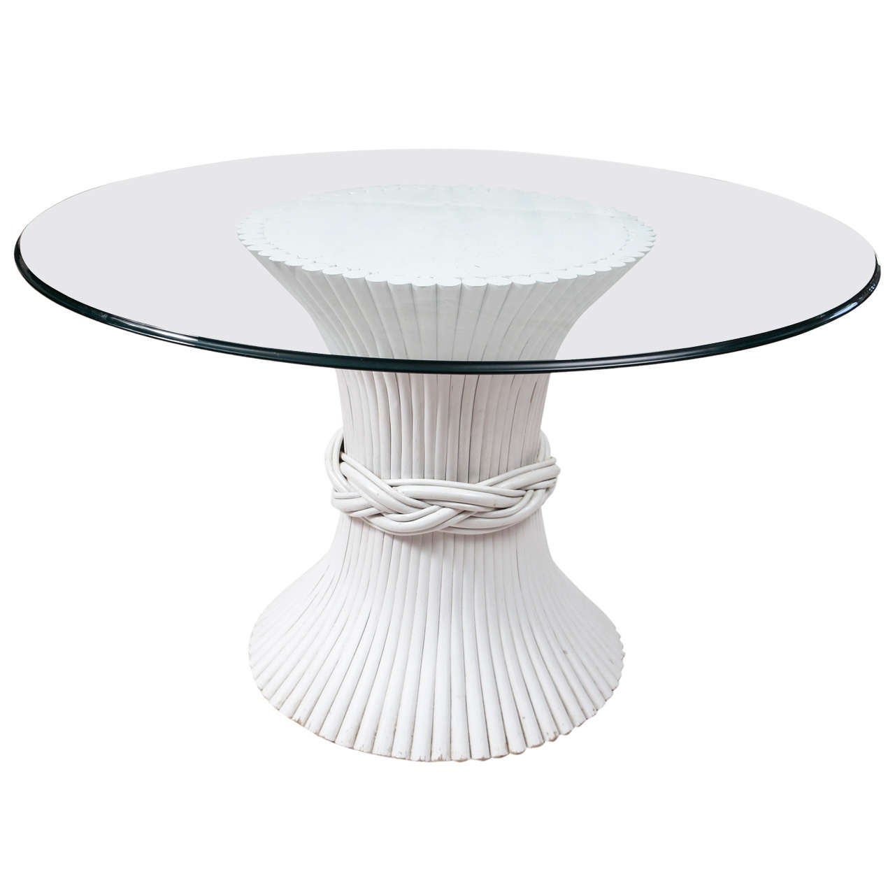 pedestal table base for glass top