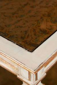 Painted Two-tier Side Table Stamped Jansen at 1stdibs