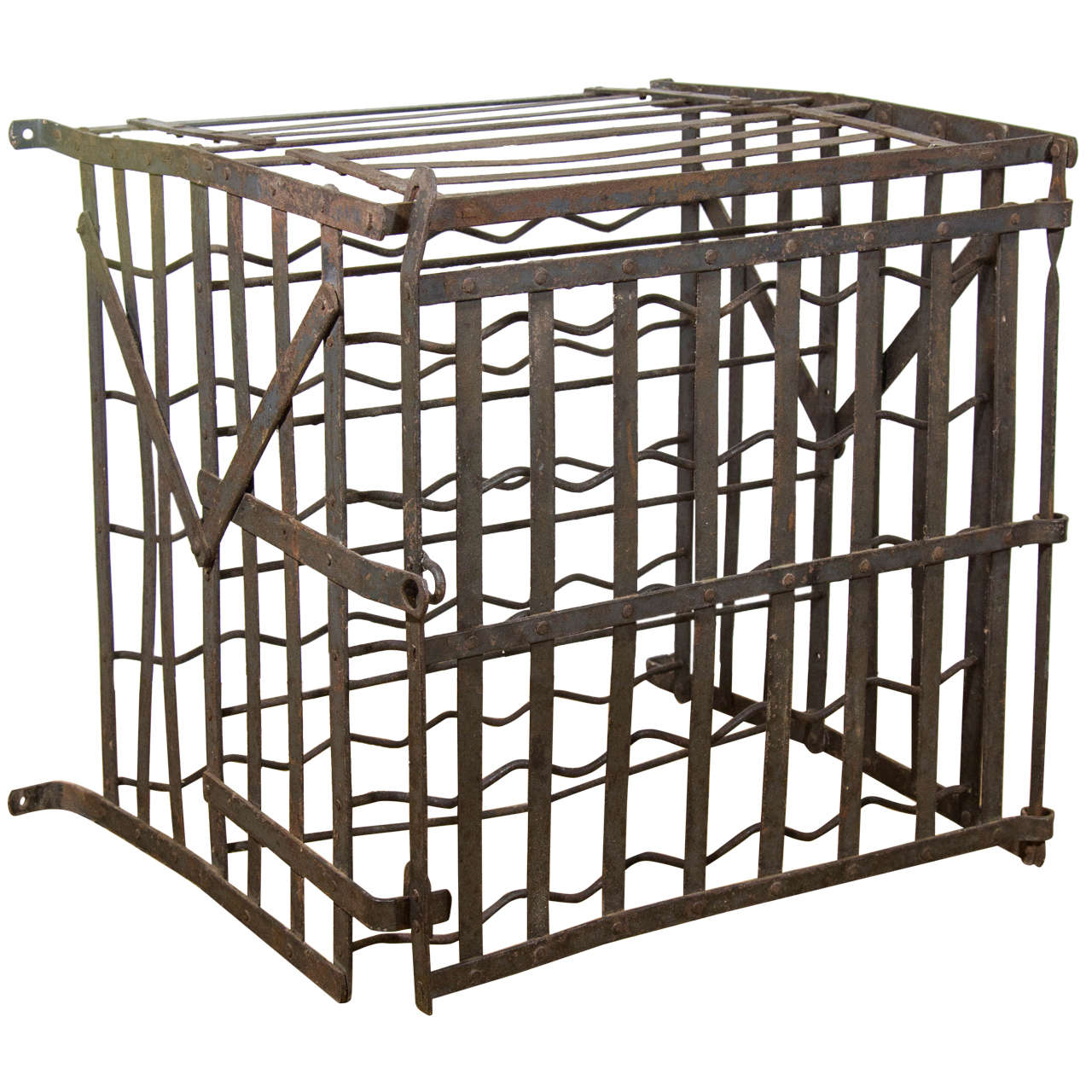 Iron Wine Rack Wall Mounted 20th Century German Iron Wall Mounted Wine Rack At 1stdibs