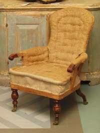 Tall-Backed Single Armchair at 1stdibs