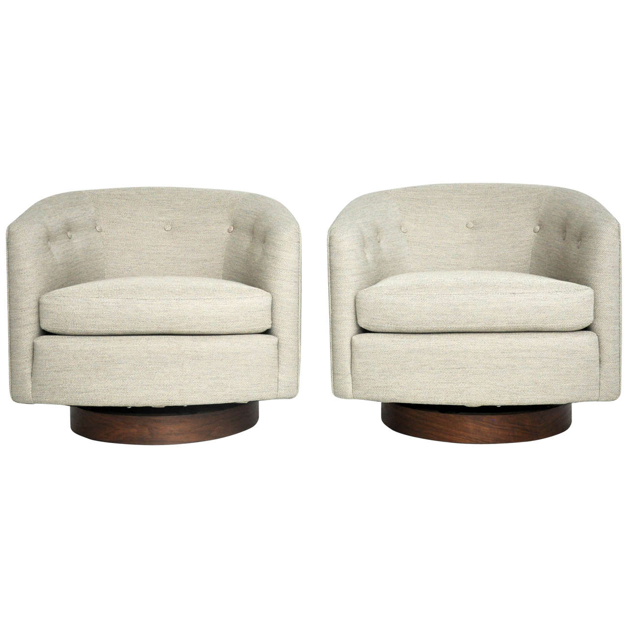 Milo Baughman Swivel Lounge Chairs At 1stdibs