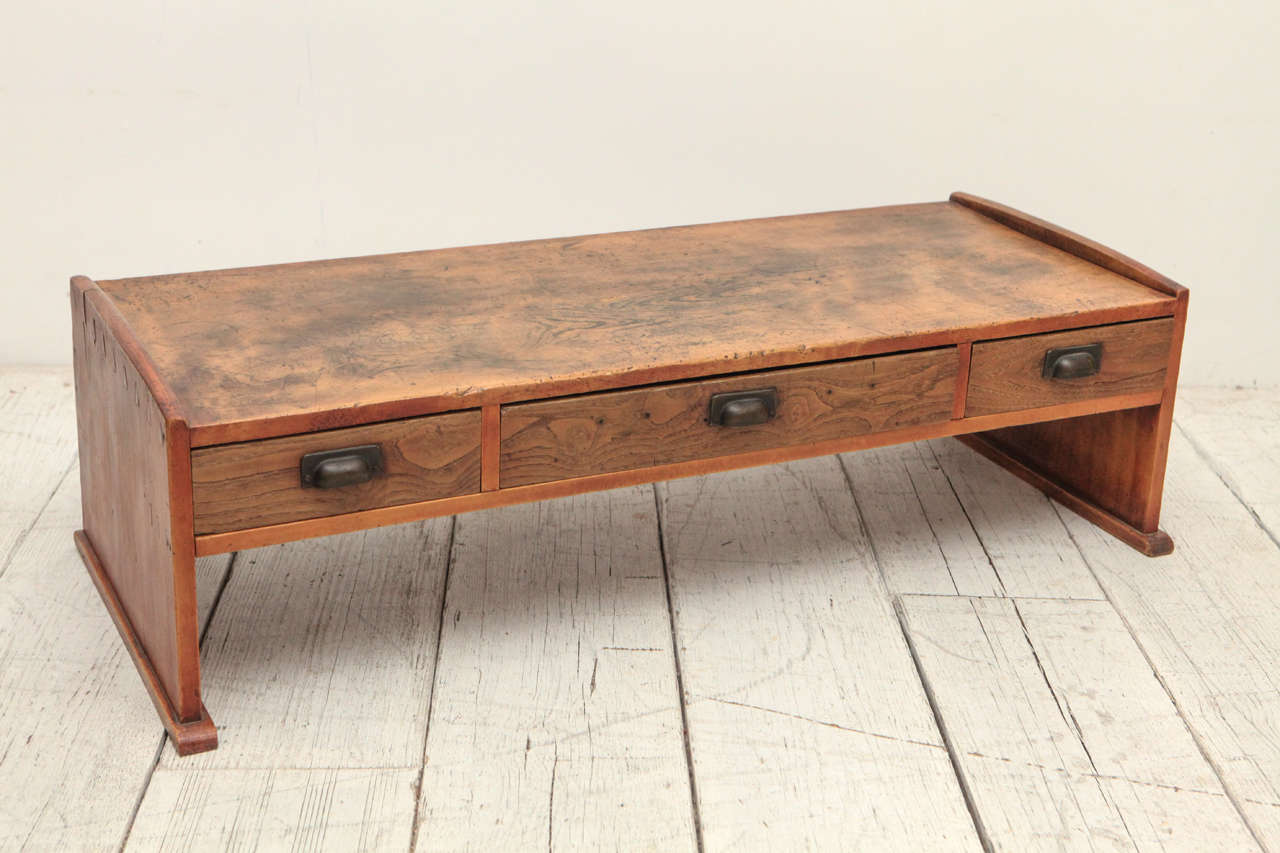 Three Drawer Low Japanese Writing Table At 1stdibs - Low Desk