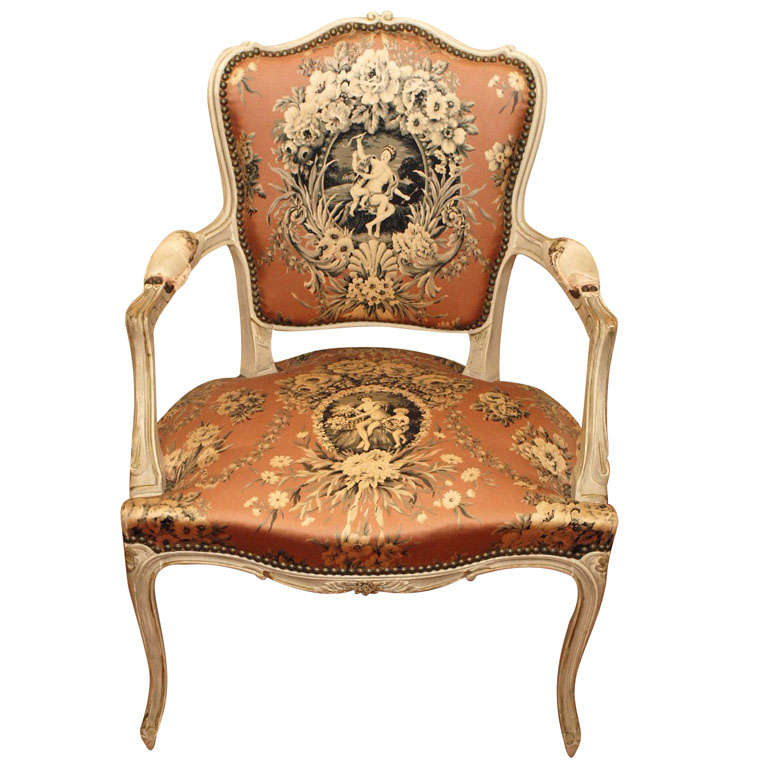 Late 19th c french louis xv arm chair at 1stdibs