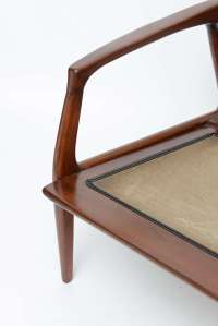 Milo Baughman wood spindle arm chair at 1stdibs