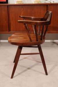 Pair of Nakashima Captain's Chairs at 1stdibs