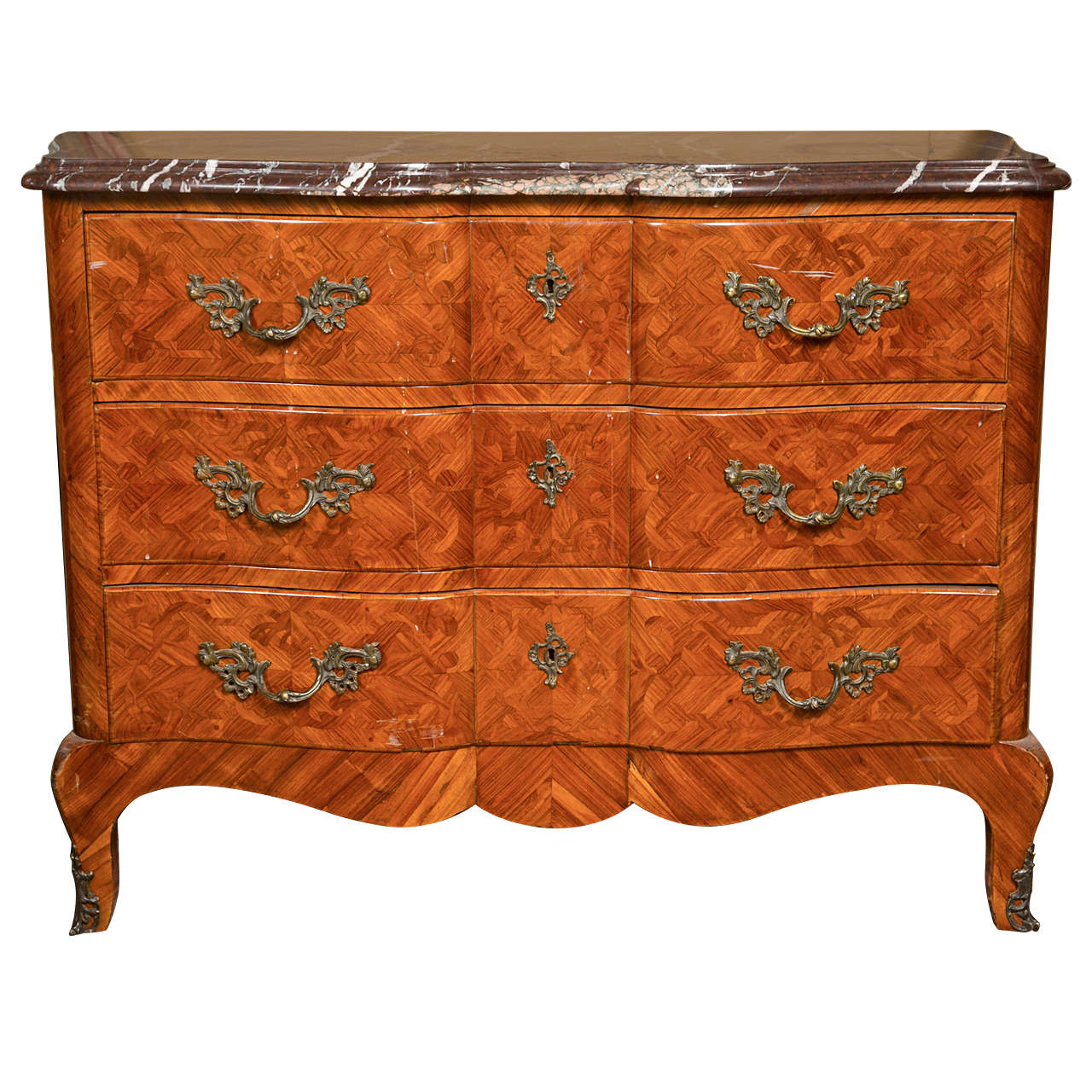 Commodes Louis 15 French Louis Xv Style Tulipwood Commode