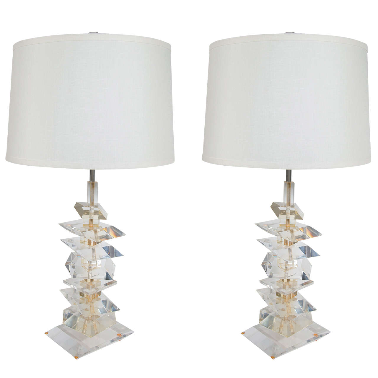 Ultra Modern Table Lamps Pair Of Ultra Modern Sculptural Lamps In The Style Of Karl