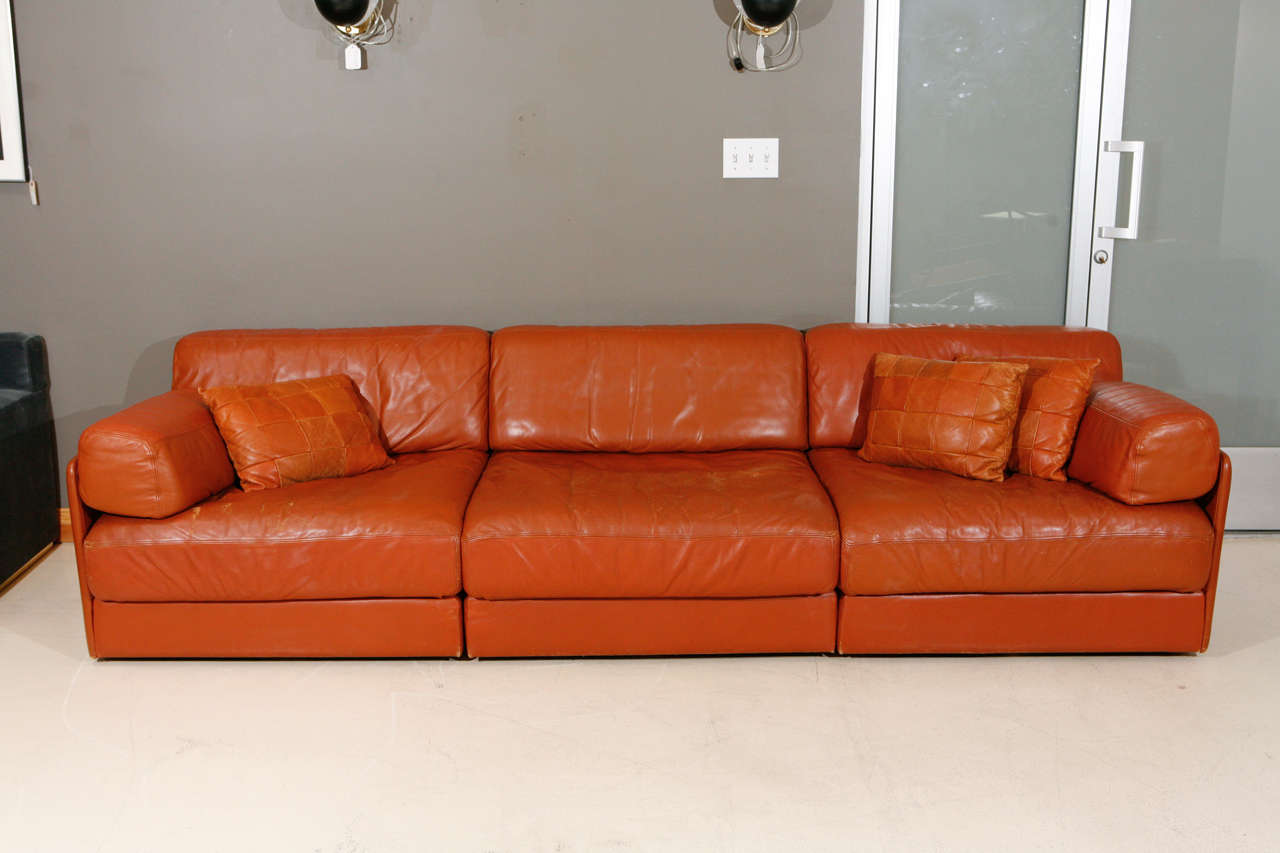 Modular Leather Sleeper Sofa By De Sede At 1stdibs