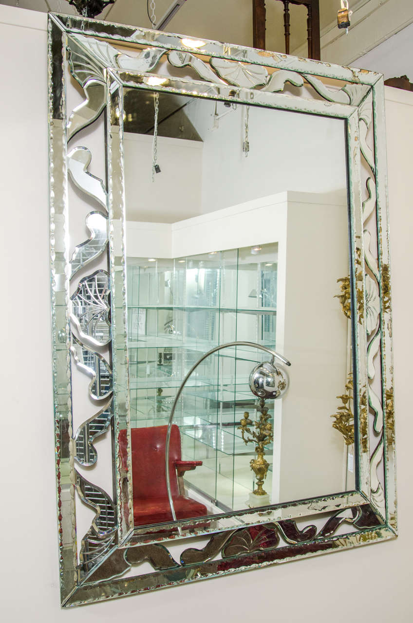 Large Wall Mirrors Midcentury Large Decorative Venetian Wall Mirror