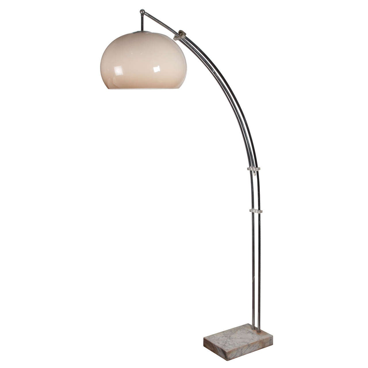 Small Arc Floor Lamp Adjustable Mid Century Arc Floor Lamp With Original Shade Guzzini