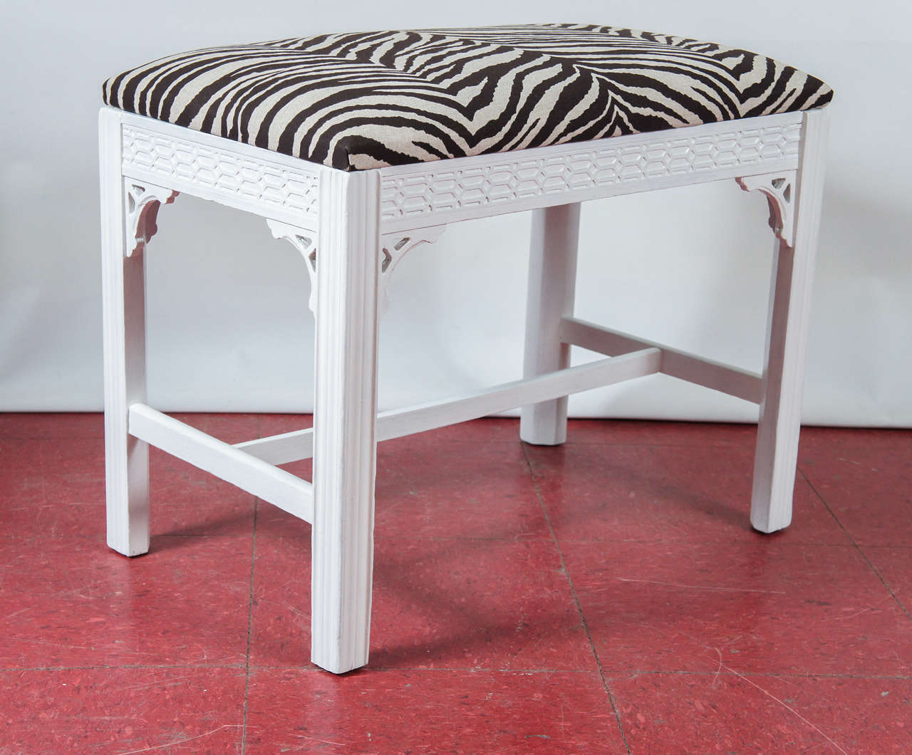 Chinese Chippendale Style Painted Bench For Sale At 1stdibs