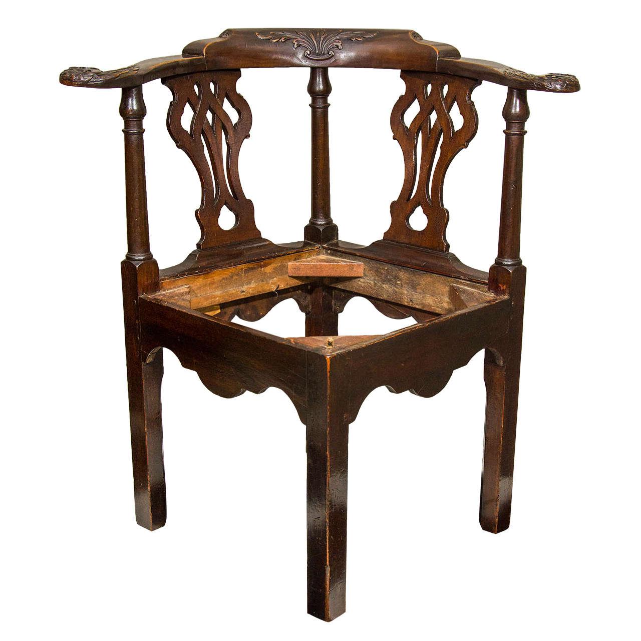 18th century irish corner chair