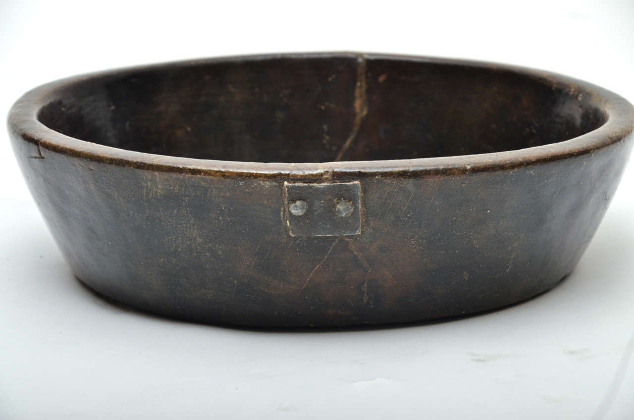 Fruit Bowl For Sale 19th Century Anglo Indian Teak Large Fruit Bowl At 1stdibs