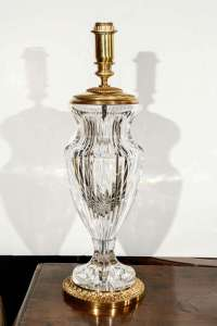 Cut Crystal Table Lamps For Sale at 1stdibs