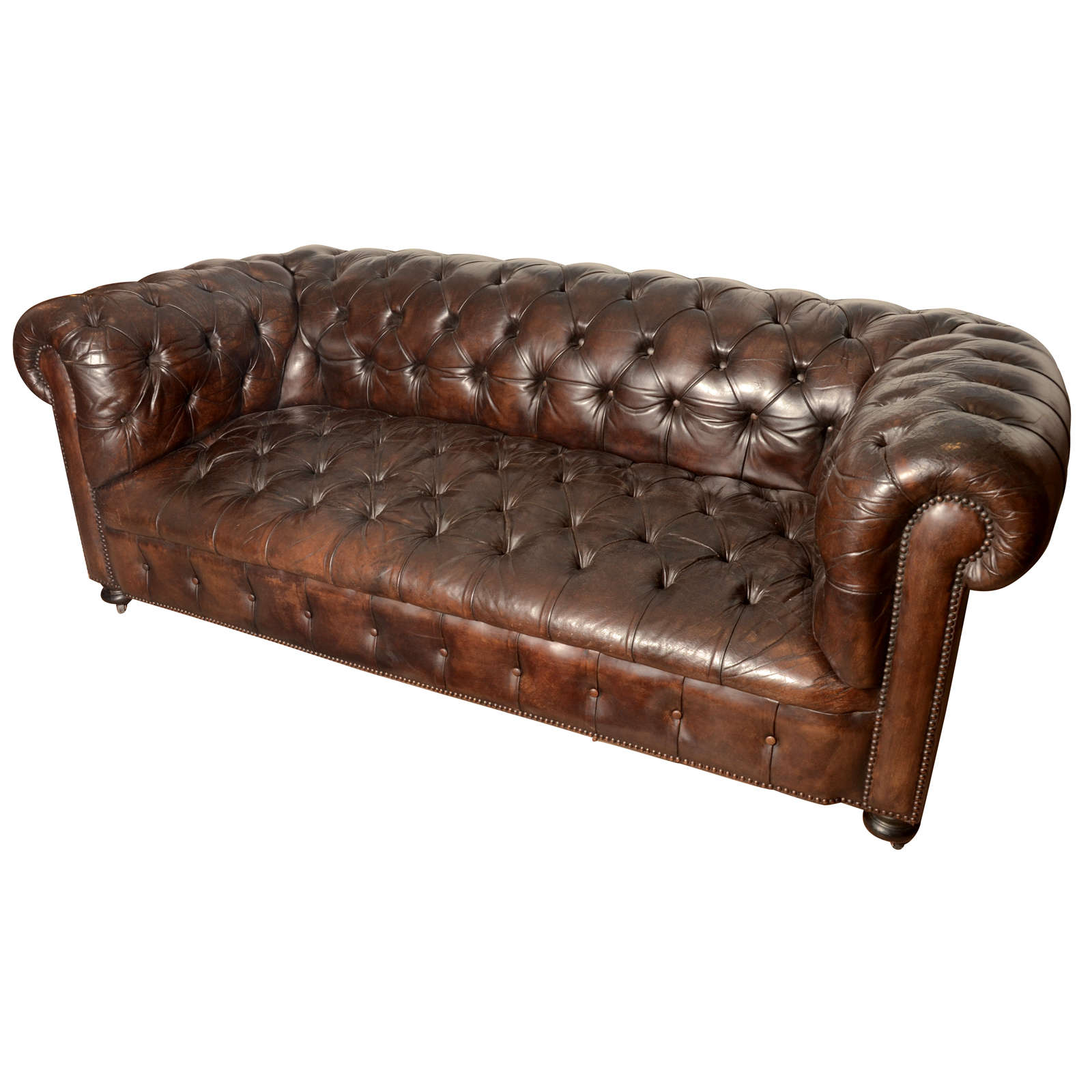 Chesterfield Sofa And Chair French Mid Century Chesterfield Sofa In Dark Brown