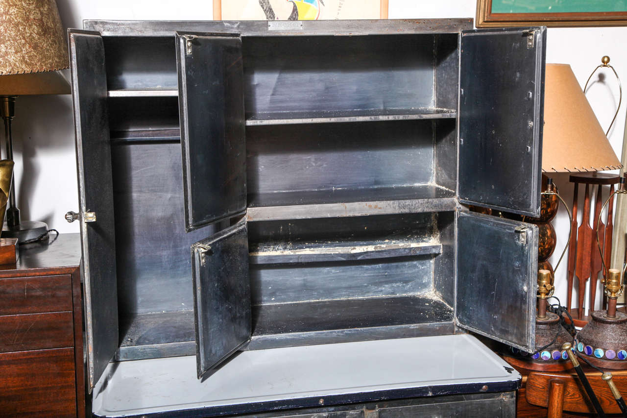 193039s Quotpackerquot Rolling Metal Hoosier Cabinet At 1stdibs