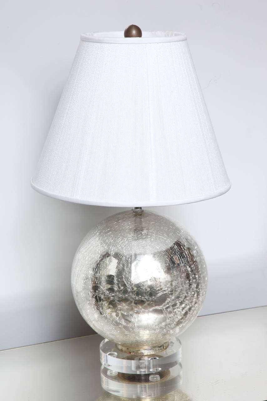 Glass Crackle Lamp Crackle Mercury Glass Globe Lamps