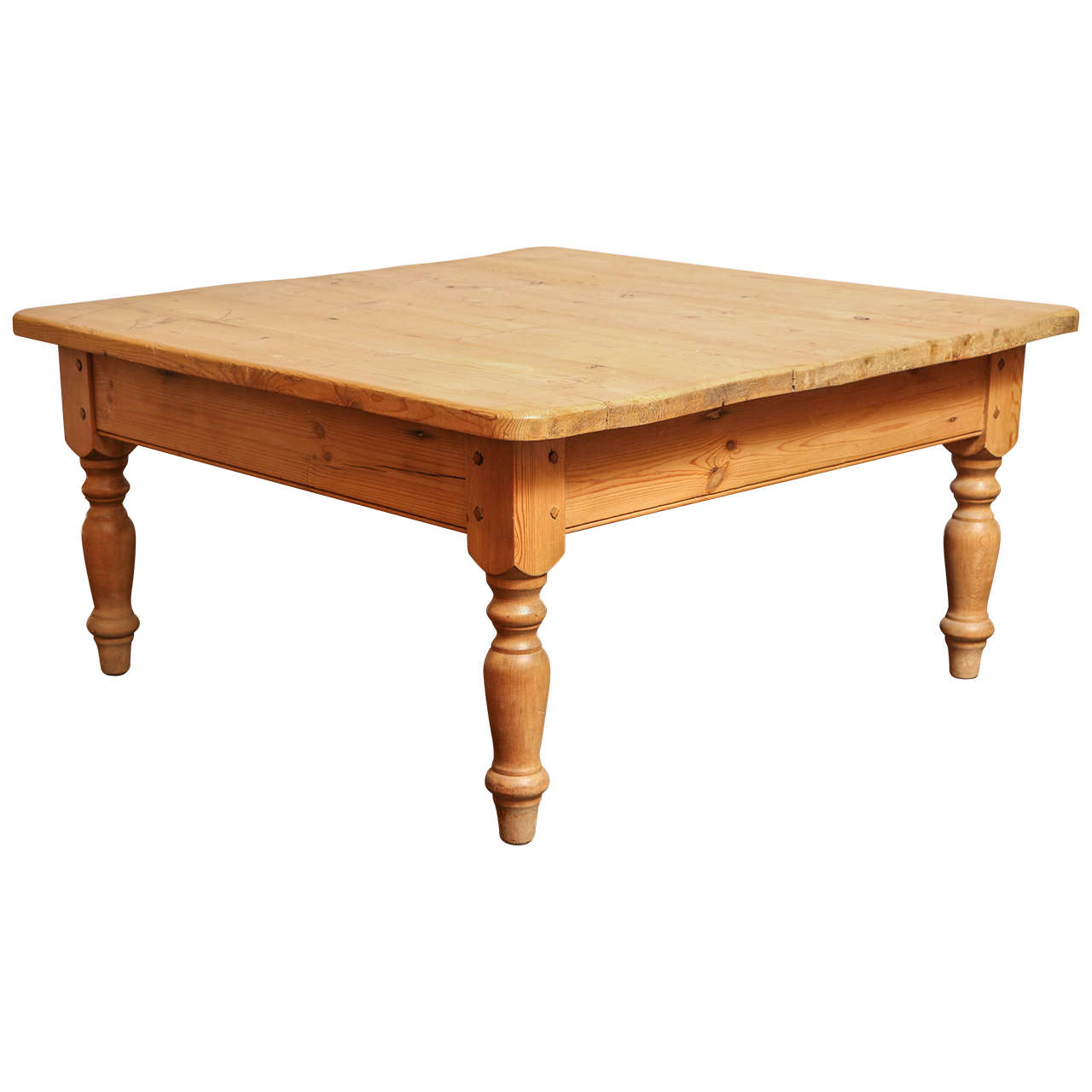 Low Tables For Sale Low Pine Coffee Table With Turned Legs At 1stdibs