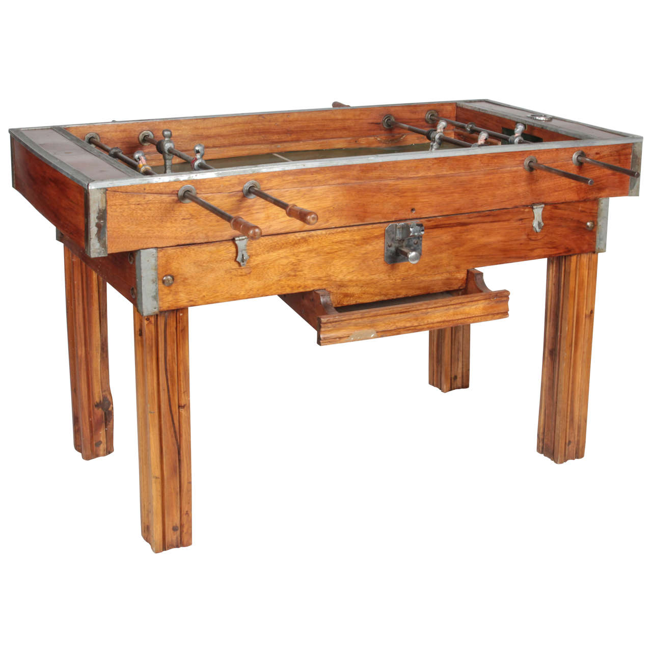 1950s Bilhares Triunfo Two Person Coin Operated Foosball