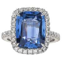 Fabulous Sapphire Diamond Platinum Ring For Sale at 1stdibs