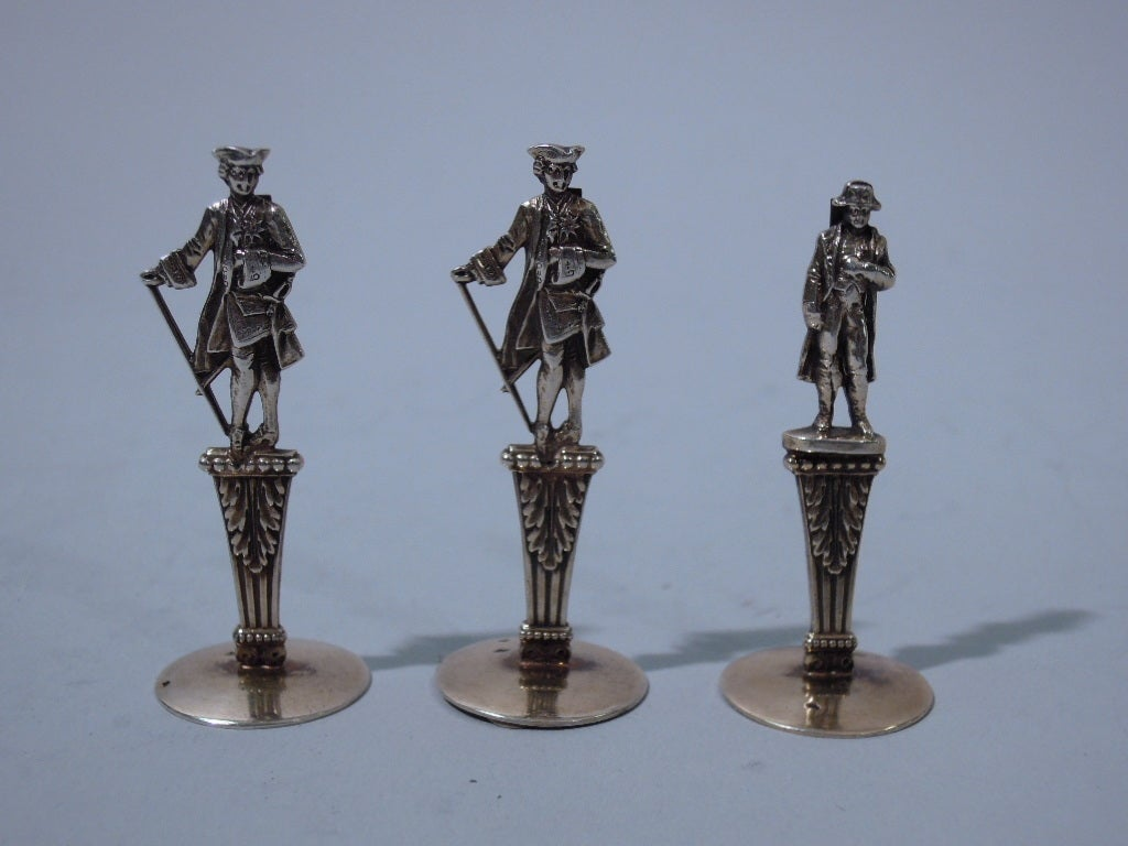 Antique Place Card Holders Historic Figures French