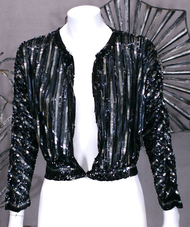 Art Deco Style Jackets 1930's Art Deco Sequin Jacket For Sale At 1stdibs