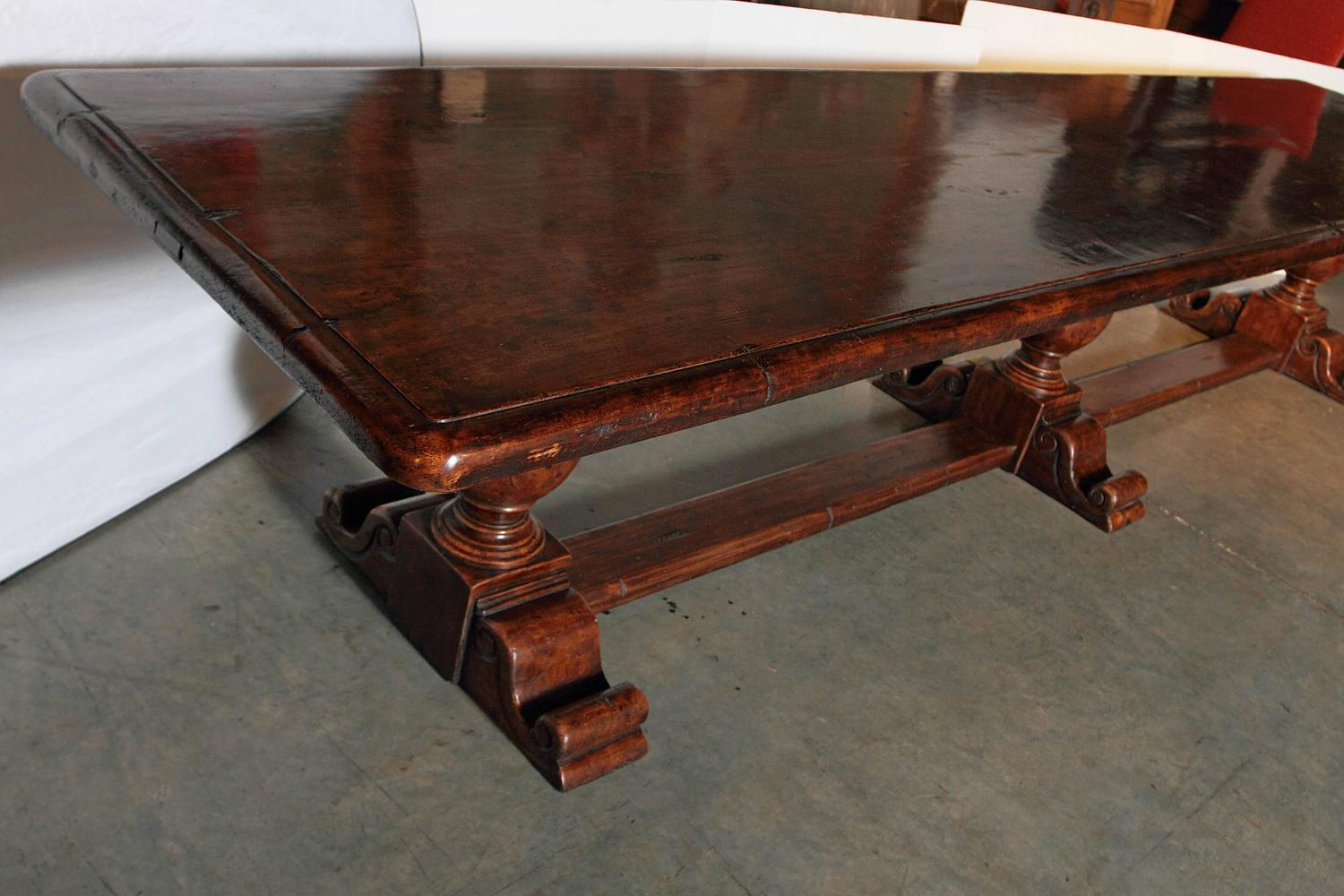 Long Dining Table For Sale Very Long Walnut Wood Dining Table From Italy For Sale At