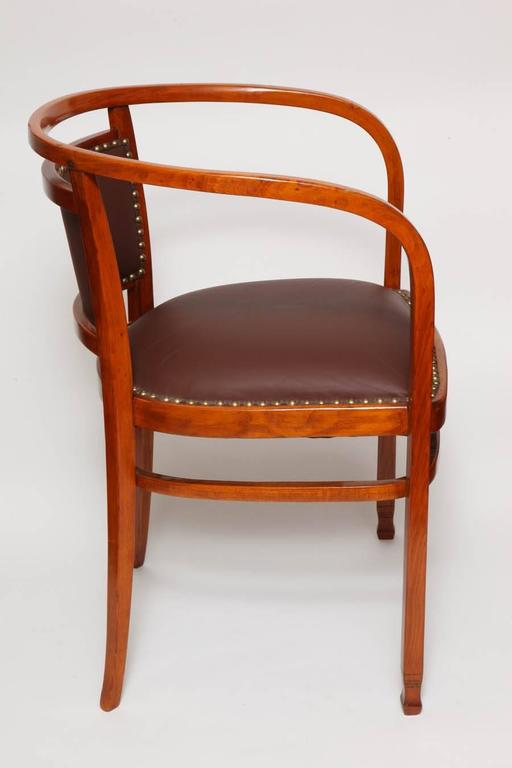 Otto Wagner Sofa Otto Wagner Secessionist Bentwood And Leather Armchair, J