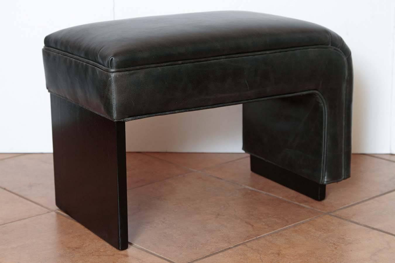 Vanity Bench For Sale Streamline Asymetric Leather And Lacquered Wood Art Deco