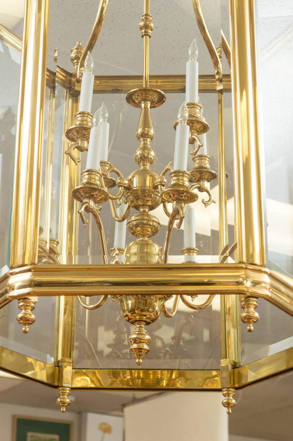 How To Swag A Chandelier Monumental Brass And Glass Twelve-light Foyer Pendant For