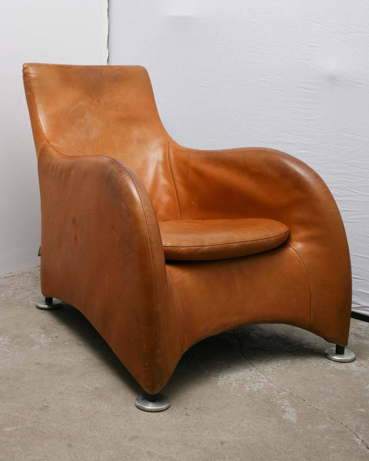 Comfortable Den Furniture Pair Of Modern Gerard Van Den Berg Montis Leather