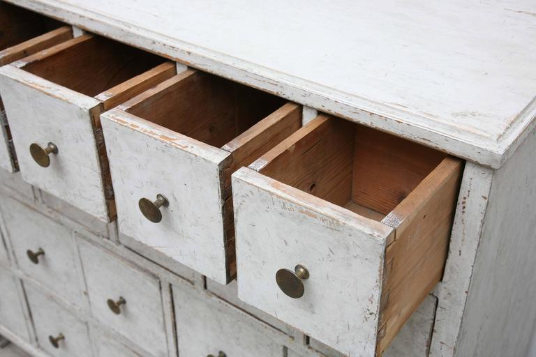 Swedish Antique Period Painted Apothecary Chest 19th