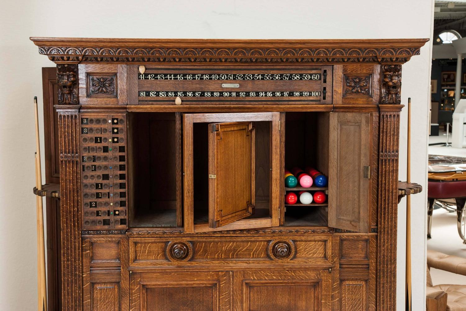 Kitchen Cabinets For Sale London Victorian Carved Oak Billiards Cabinet By Thurston And Co