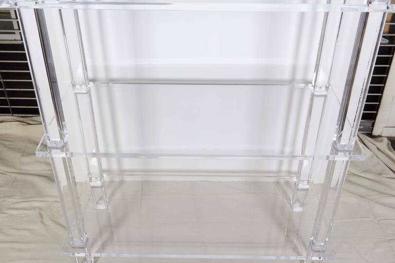 Tall Clear Lucite Etagere At 1stdibs