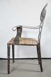Pair Hand Forged Iron Chairs For Sale at 1stdibs