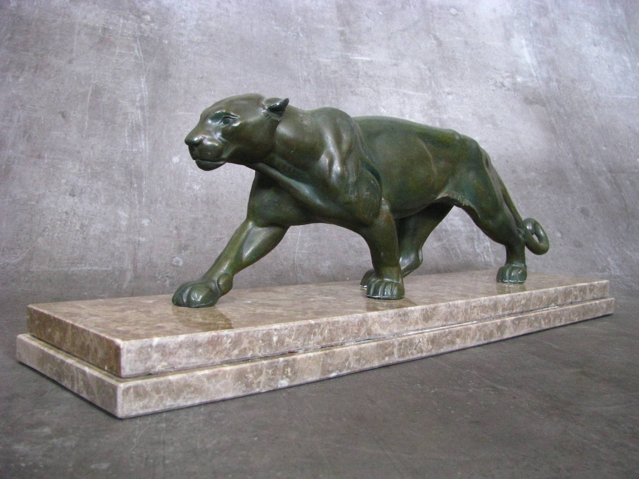 Panther Statue For Sale Art Deco Panther Sculpture 1935 For Sale At 1stdibs