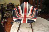 Charles Eames Union Jack Fiberglasss Shell Arm Chair on ...