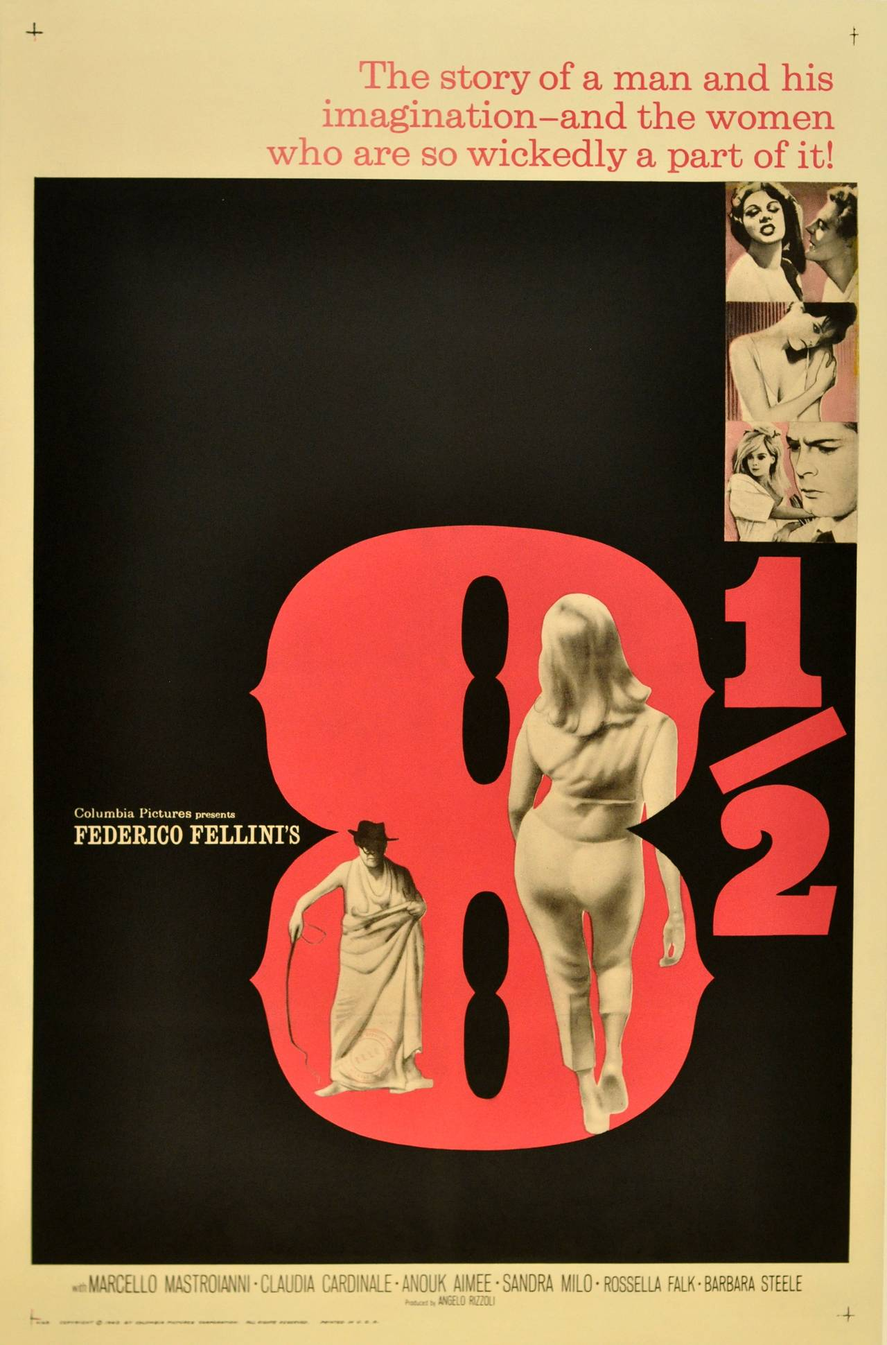 Vintage 8 Original Vintage Movie Poster For Federico Fellini S Award Winning Film 8 1 2