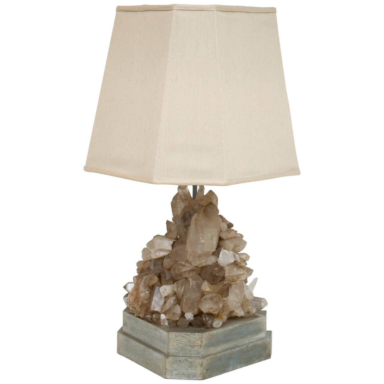 Crystal Stone Lamp Carole Stupell Rock Crystal Lamp For Sale At 1stdibs