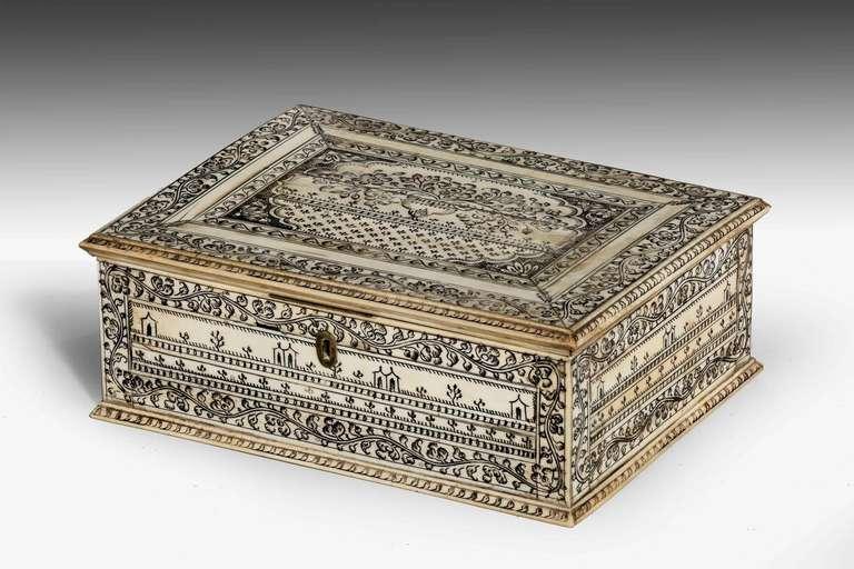 Early 19th Century Vizagapatam Bone Box For Sale At 1stdibs