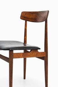 Midcentury Dining Chairs in Rosewood and Black Leather For ...