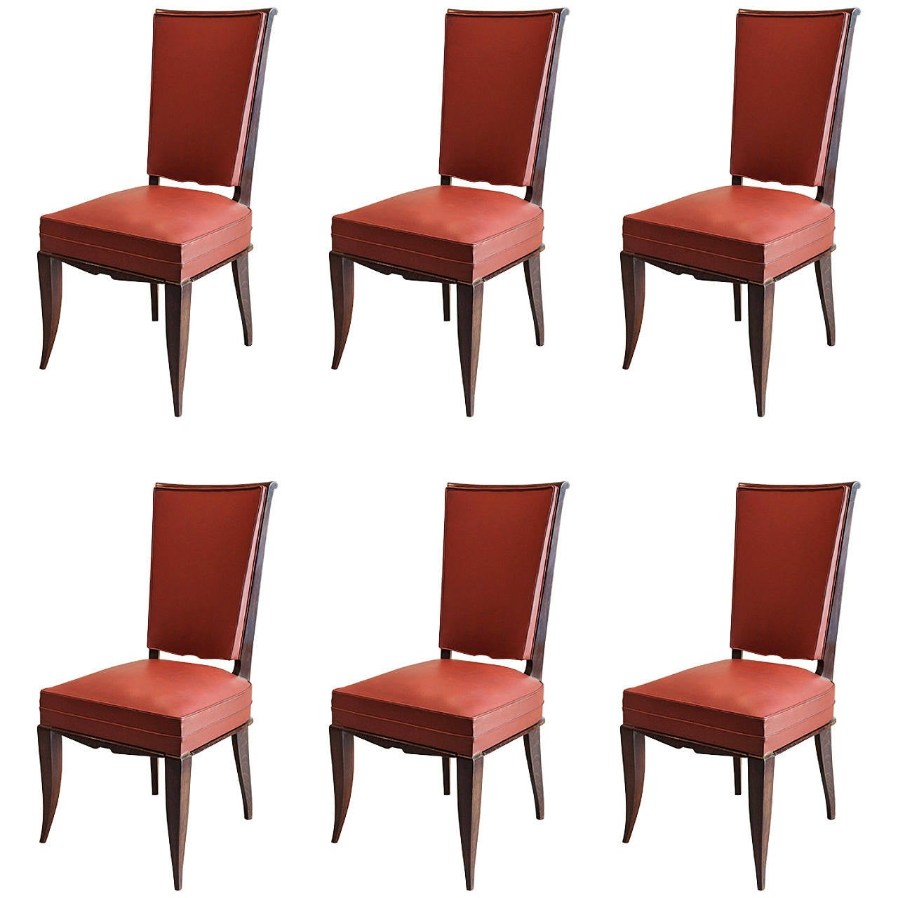 Artistic Dining Chairs Set Of Six Art Deco Dining Chairs For Sale At 1stdibs