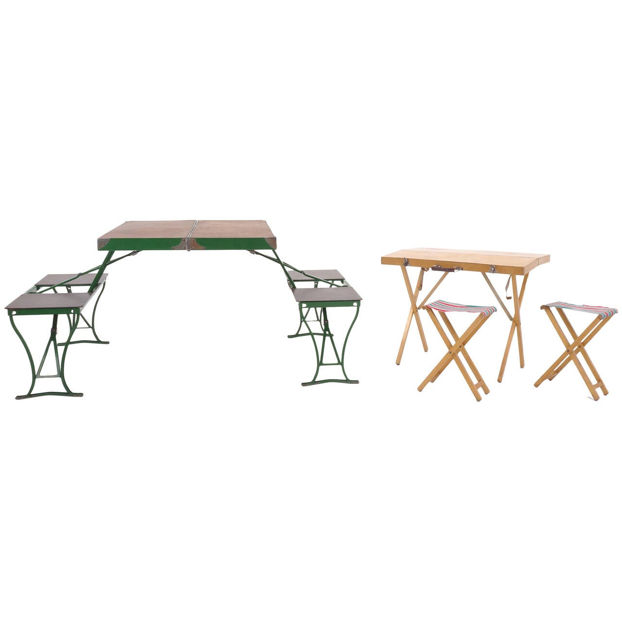 Portable Dining Table And Chairs Pair Of 1950s Portable Dining Sets At 1stdibs