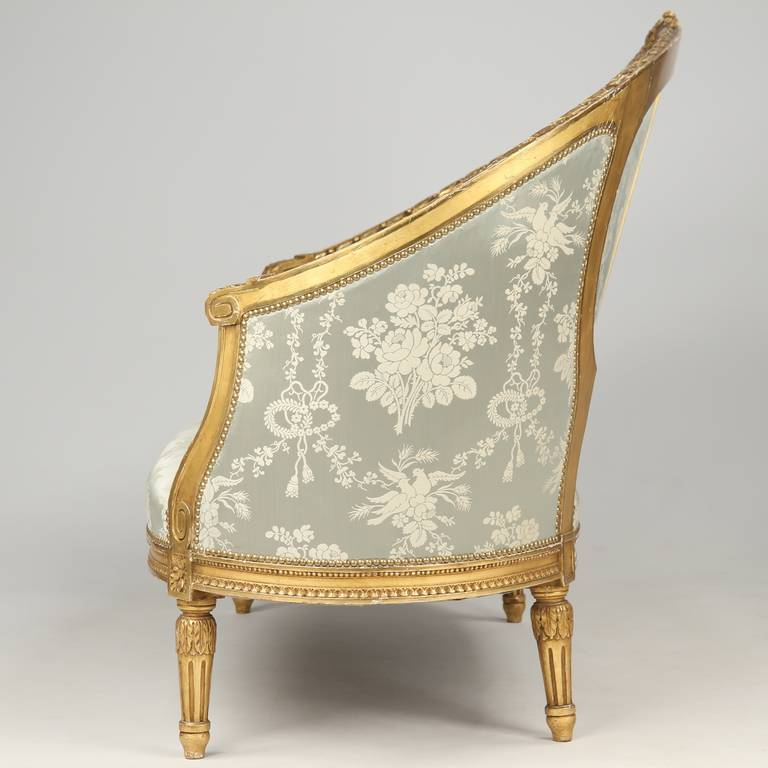 French Louis Xvi Style Giltwood Canape Sofa Circa 1900 At - Canape Style Louis 16