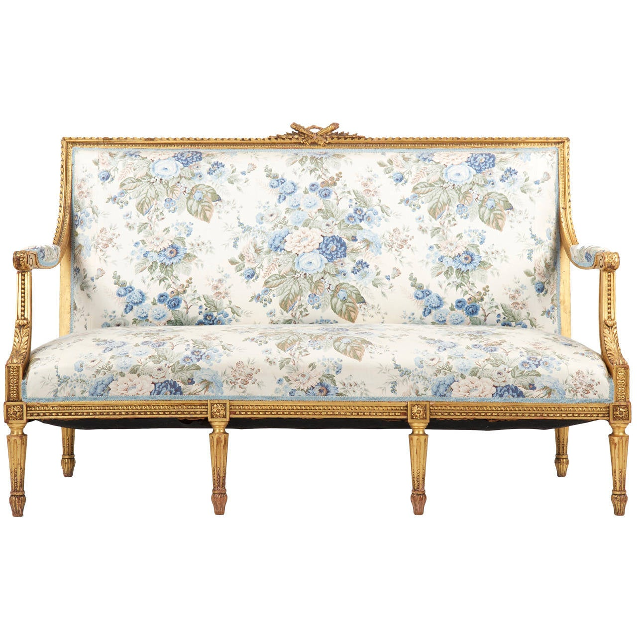 Canape Sofa French Louis Xvi Style Giltwood Antique Settee Sofa Canape C 1900