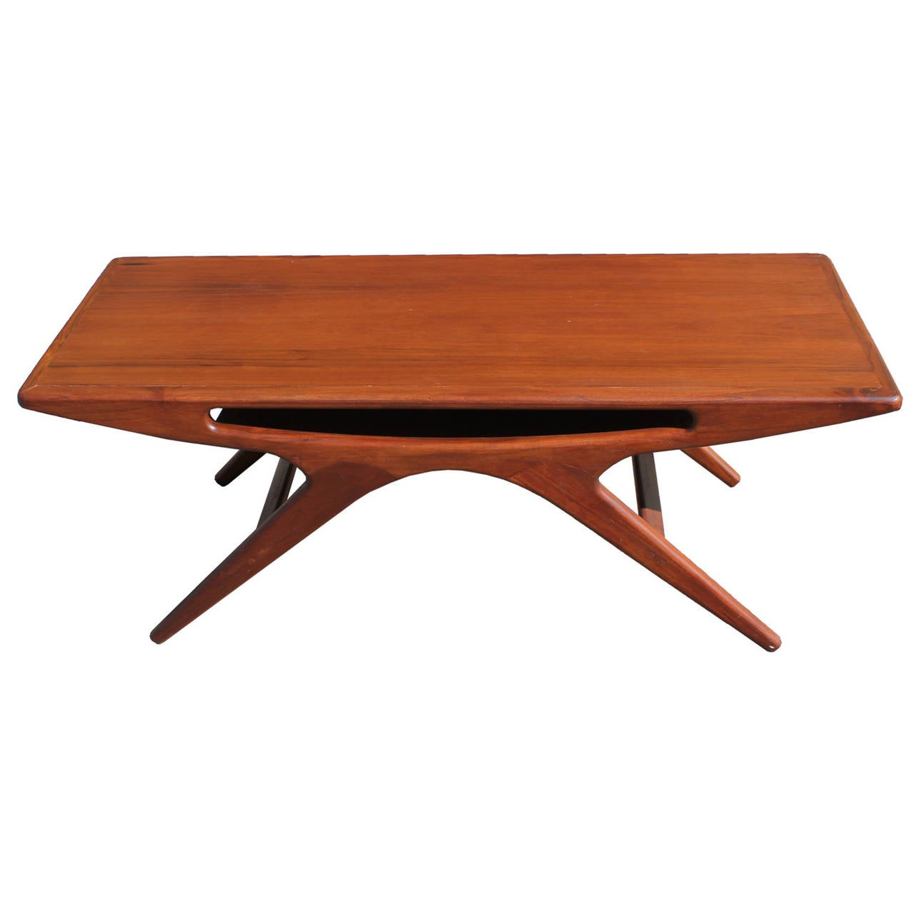 Sculptural Coffee Tables Sculptural Teak Coffee Table By Johannes Andersen At 1stdibs