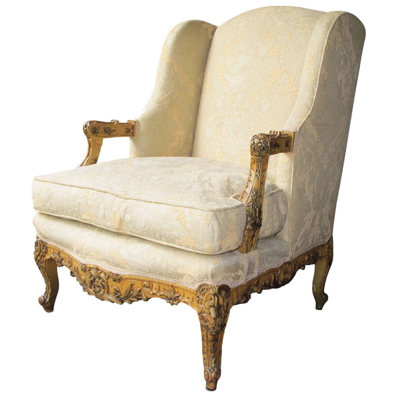 Louis The 14th Furniture Beautiful Louis Xiv Style Bergere Chair At 1stdibs