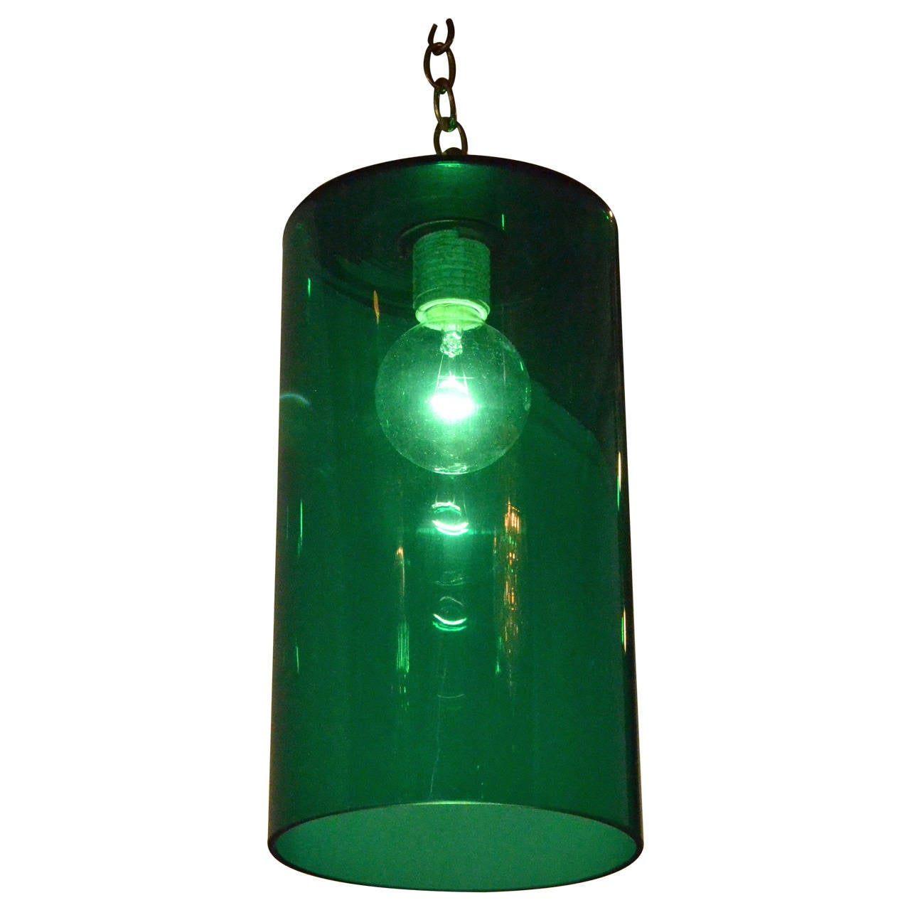Green Glass Pendant Light Mid Century Modern Emerald Green Murano Glass Lighting