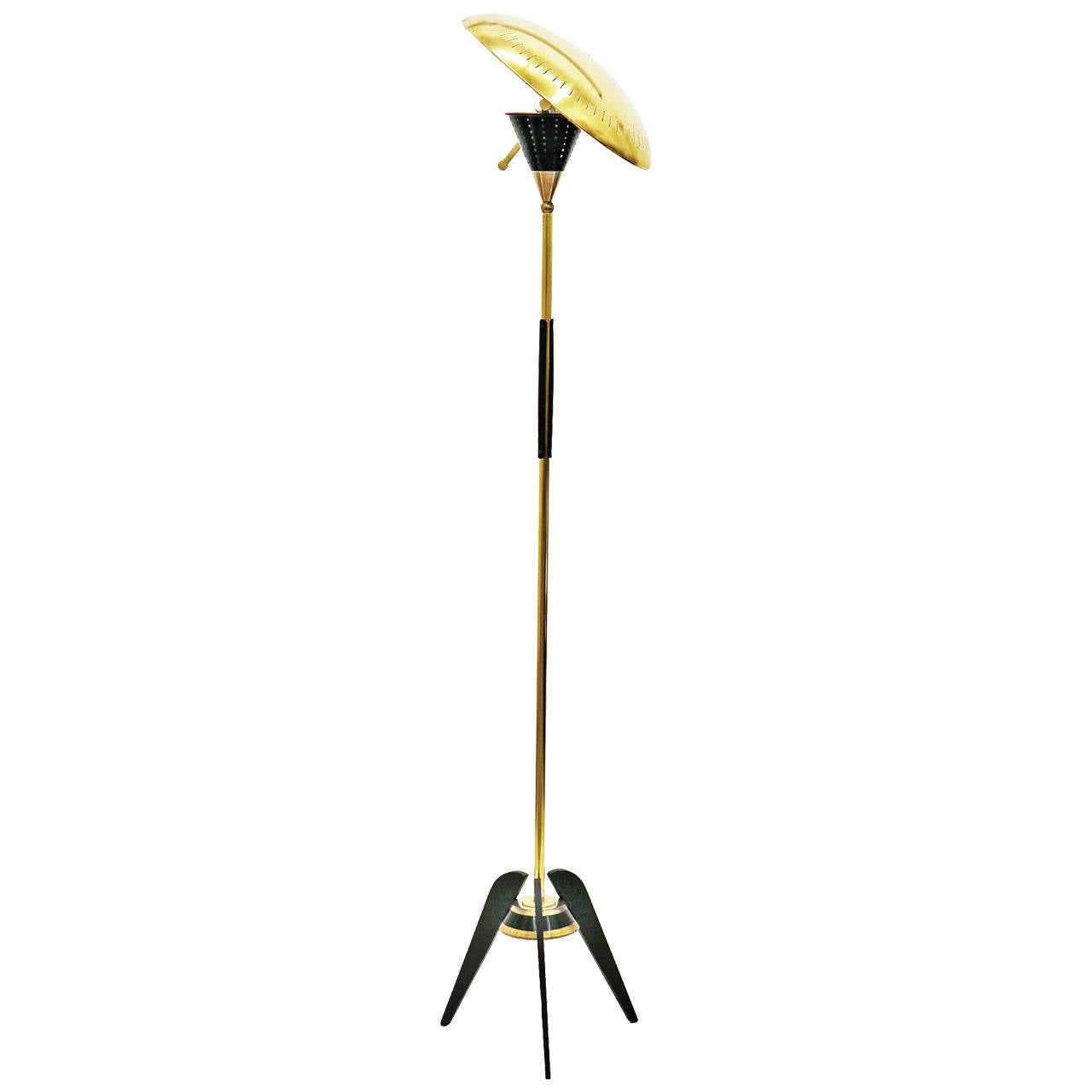 Unique Floor Lamps For Sale Unique Brass Floor Lamp With Perforated Shade For Sale At